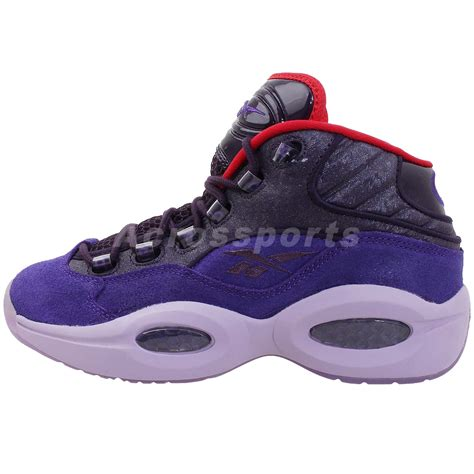 iverson basketball shoes reebok question mid purple i3 allen iverson 2014 retro