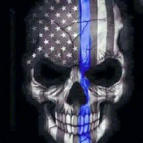 thin blue line tattoo pinterest blue skulls and