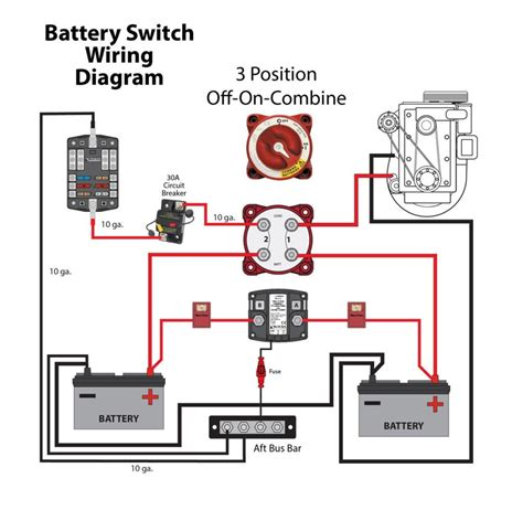 dual battery wiring diagram boat wiring diagram with