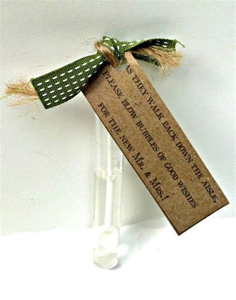 Wedding Aisle Bubbles by Rustic Wedding Tags Bubbles Of Wishes Kraft