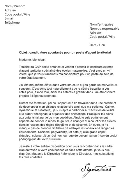 Exemple De Lettre De Motivation Urbanisme Lettre De Motivation Territorial Mod 232 Le De Lettre
