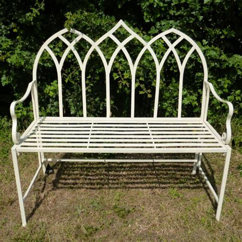 small metal garden bench buy ascalon gothic metal garden bench
