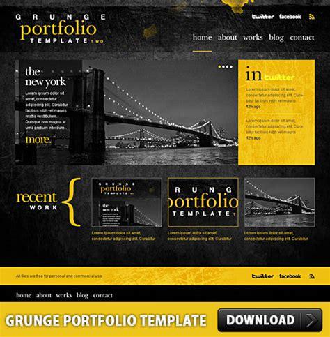 grunge portfolio template psd psdfinder co