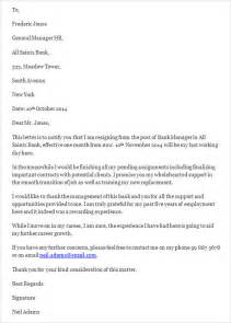 Bank Letter Employee Sle Resignation Letter Template 14 Free Documents In Word Pdf