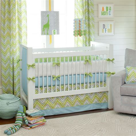 Green Crib Set by Giveaway Carousel Designs Crib Bedding Set
