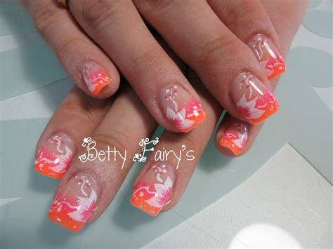 Ongle En Gel Deco Fluo by Ongles En Gel Orange Fluo