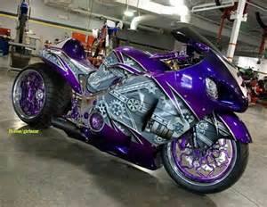purple motorcycle motorcyle