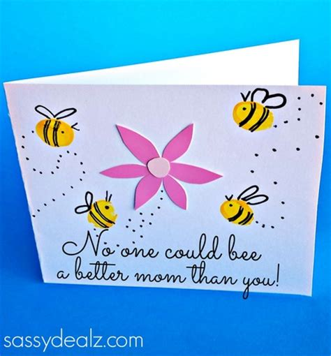 mothers day cards for children to make fingerprint bee s day card for to make
