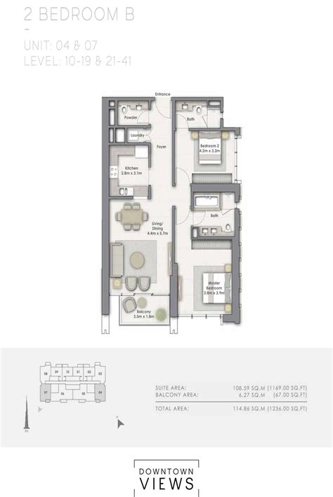 floor plan downton floor plans downtown views downtown dubai