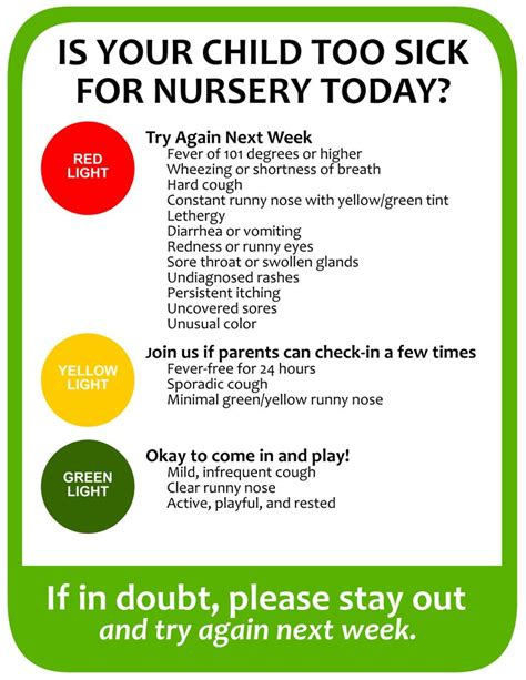 Church Is Keeping About The Name Of Newborn by Sick For Nursery When To Keep Your Child Home From