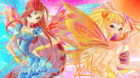 Boneka Winx Club Bloomix Stella bloom and stella bloomix couture wallpaper by wonderfairy