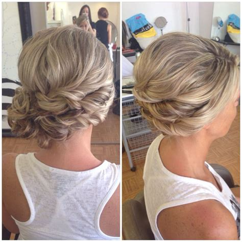 side swipe updo hairstyles bridal hair wedding hair side bun curly bun side swept