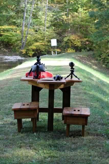 target shooting bench at home shooting range home pinterest backyards