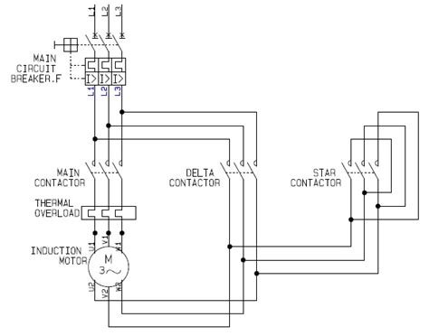 wye start delta run motor wiring diagram wye delta motor