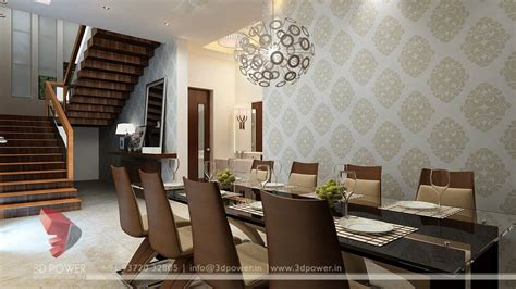 3d dining room designer interior design chennai 3d power