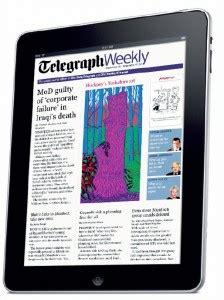 ipad app news telegraph weekly launches ipad edition t3 telegraph weekly ipad edition the just landed blog