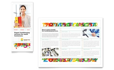 for accounting services template bookkeeping services brochure template design