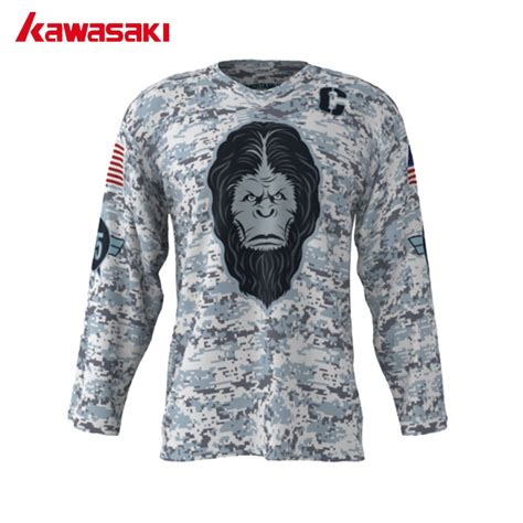 aliexpress nhl jerseys kawasaki custome ice hockey jerseys angry yeti camouflage