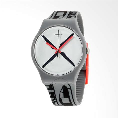 Jam Tangan Swatch Black jual swatch suom107 helikit jam tangan pria grey black