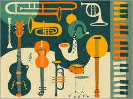 jazz print 60s jazz club decor music poster jazz home jazz posters and prints posterlounge