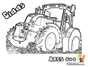 Brawny Tractor Coloring Pictures  Free Tractors sketch template