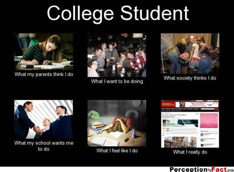 college student what people think i do what i really