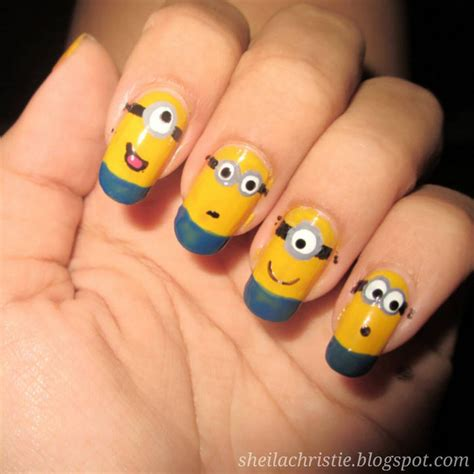 tutorial nail art minions 19 minion nails that are adorable go bananas with minion
