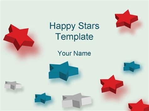 powerpoint templates free stars happy stars template