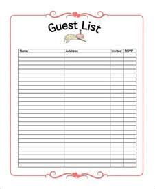 wedding invitation checklist template how to use a wedding guest list template to invite track
