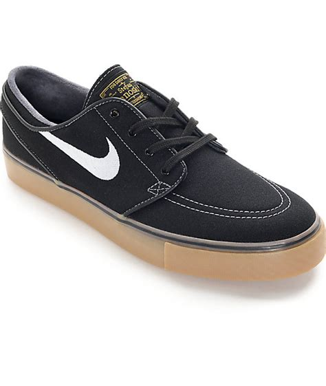 nike sb zoom stefan janoski black white and gum skate