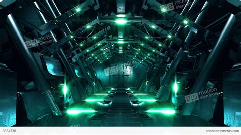 sci fi laboratory sound focusing noise masking high steel gate opening in science fiction tunnel stock