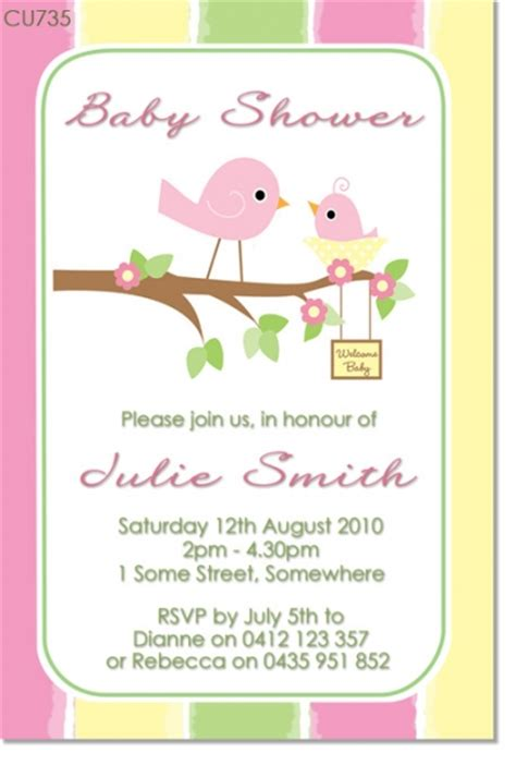 Bird Baby Shower Invitations by Cu735 Bird Baby Shower Invitation Baby Shower