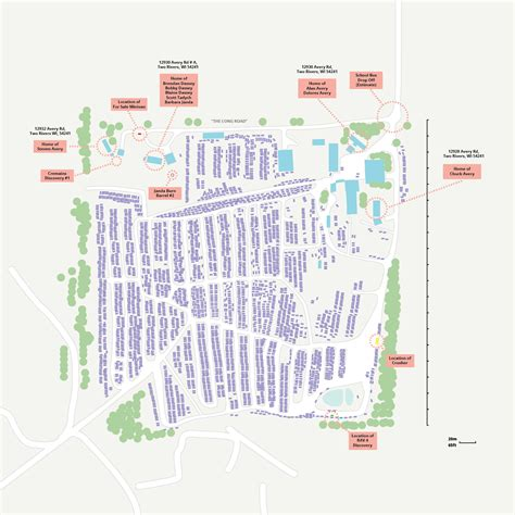 steven avery map annotated map of avery auto salvage makingamurderer