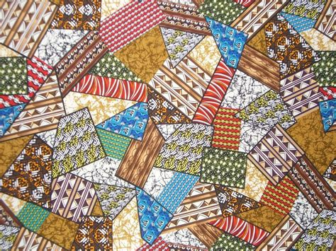 Patchwork Print - patchwork print cotton fabricone yard