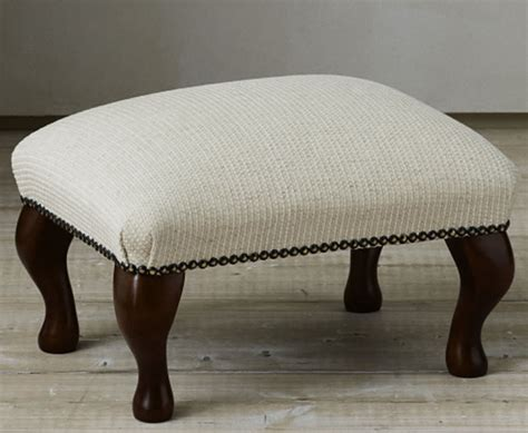 Upholstered Foot Stools by Marlow Upholstered Footstool Just Ottomans
