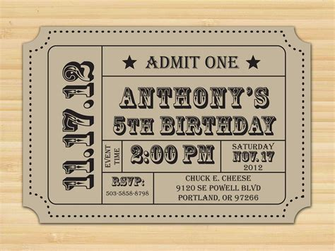 Template For Tickets With Stubs by Free Printable Ticket Stub Invitation