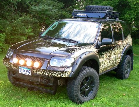 mazda tribute lifted camo ed ford escape off road pinterest ford cars
