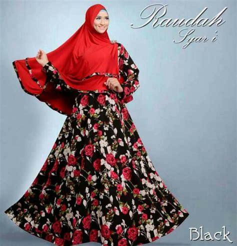 Baju Muslim Anak Fattaya baju gamis model terbaru raudah syari hitam model baju