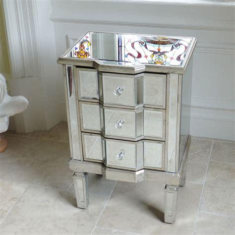 venetian style side table uk mirrored bedside table