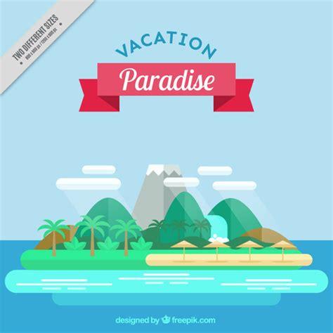 flat design wallpaper vector island background in flat design vector free download