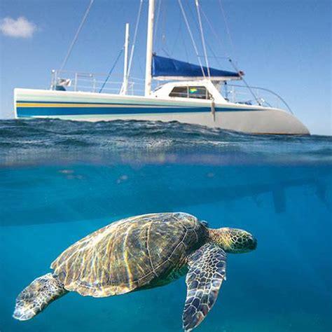catamaran tours kauai na pali sailing catamaran snorkel tour 5 hour kauai