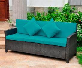 outdoor wicker sofas international caravan valencia 3 seat wicker outdoor sofa