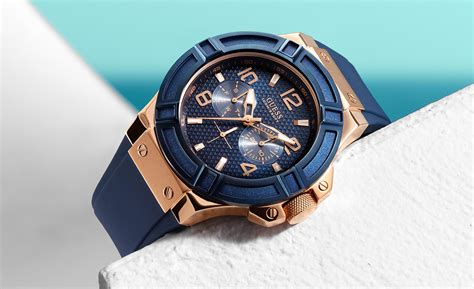 Quality Jam Tangan Guess Butterfly Blue Gold guess rigor blue watchmarkaz pk watches in pakistan rolex watches price casio