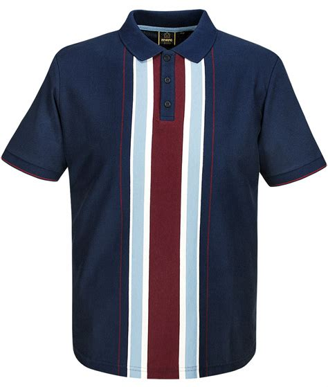 Navy Stripe Vertical Shirt merc m navy hessle vertical stripe polo t shirt