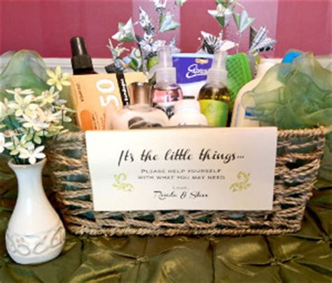 bathroom baskets for wedding reception wedding bathroom basket allfreediyweddings com