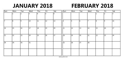 printable calendar january february 2018 january and february 2018 calendar mathmarkstrainones com