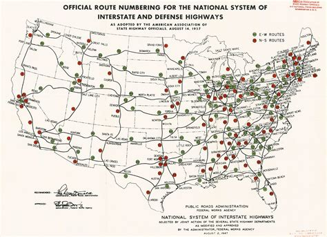 map us highway routes project 1947 map of interstate highways digital