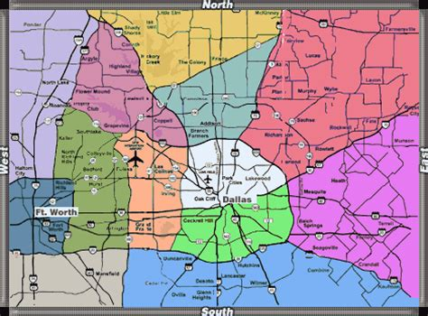 map of dallas and suburbs dallas fort worth metro map toursmaps
