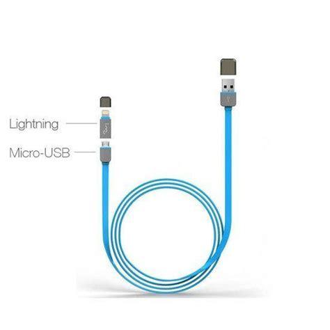 Merk Kitani Kabel Micro Usb 1 5 Meter Bisa Data Charger 1 bol 2 in 1 micro naar usb kabel 1 meter met lightning opzetstuk licht blauw voor o a iphon
