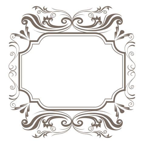 decorative ornamented sqaure frame transparent png svg
